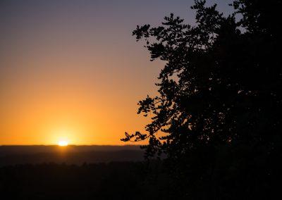 Puesta de sol en la Canal de Navarrés