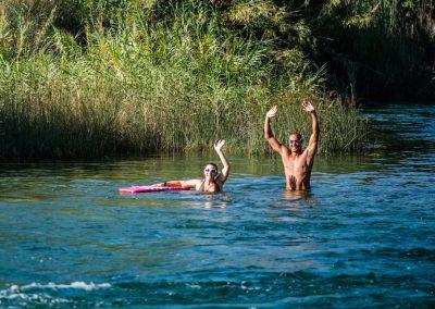 Baño en el río Júcar en Sumacàrcer